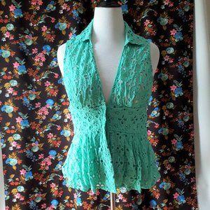 *2/$14* Guess Cotton Lace Blouse Size Large